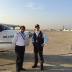 capt samarth singh at surat VASU airport with capt jp sharma from the bombay flying club